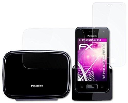 atFolix Glasfolie kompatibel mit Panasonic KX-PRX150 Panzerfolie, 9H Hybrid-Glass FX Schutzpanzer Folie (1er Set)