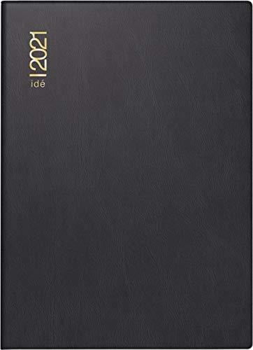 rido/idé 7013202901 Taschenkalender perfect/Technik I, 2 Seiten = 1 Woche, 100 x 140 mm, Kunststoff-Einband schwarz, Kalendarium 2021