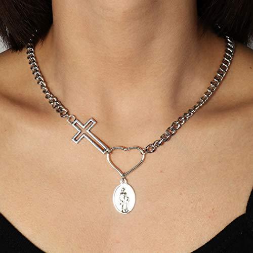 Jovono Boho Cross Liefde Kettingen Mode Choker Ketting Sieraden voor Vrouwen en Meisjes Goud