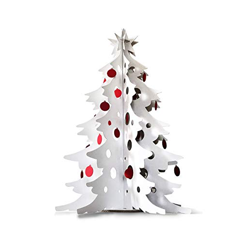 Albero di Natale in Cartone con Decorazioni