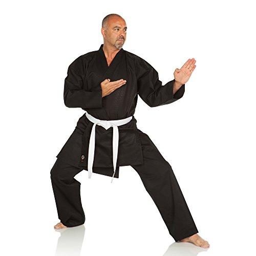 Ronin Karate Gi - Medium Weight, Black-6