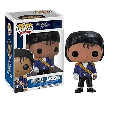CJH Michael Jackson in blauw: Pop aantrekkelijke karikatuur PVC-afbeelding met voortreffelijke verpakking De Best Collection for Michael Jackson fans grootte: 10 cm