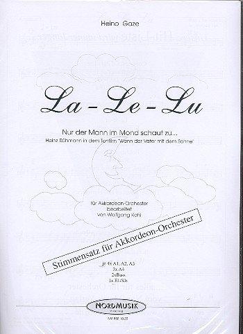 La-le-lu nur der Mann im Mond schaut zu: für Akkordeonorchester
