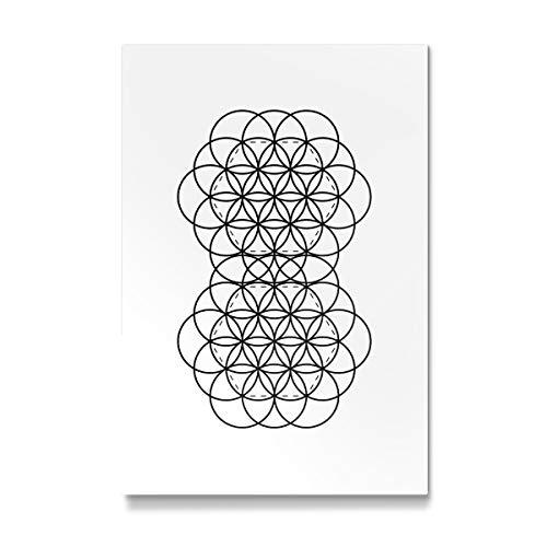 artboxONE Galerie-Print 150x100 cm Flower of Life hochwertiges Acrylglas auf Alu-Dibond von Urban Epiphany