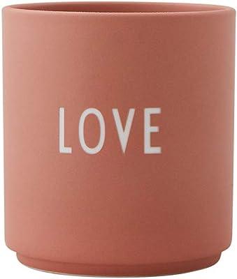 Design Letters 10204100LOVE Bone China Porcelain Cup, Favourite Mug for Drink or Gift Decorations (Love), Fine