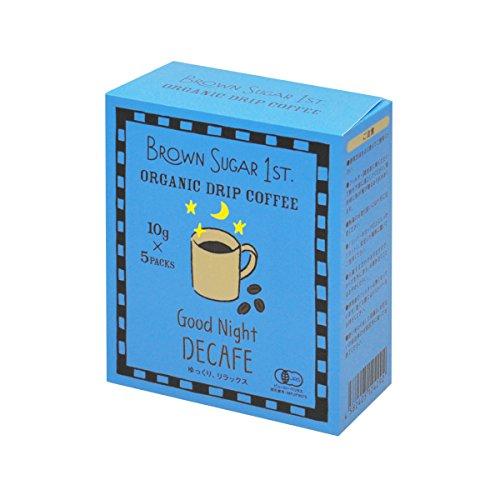 オーガニック カフェインレスコーヒー グッドナイトブレンド ドリップ (有機 化学調味料無添加 砂糖不使用 ...