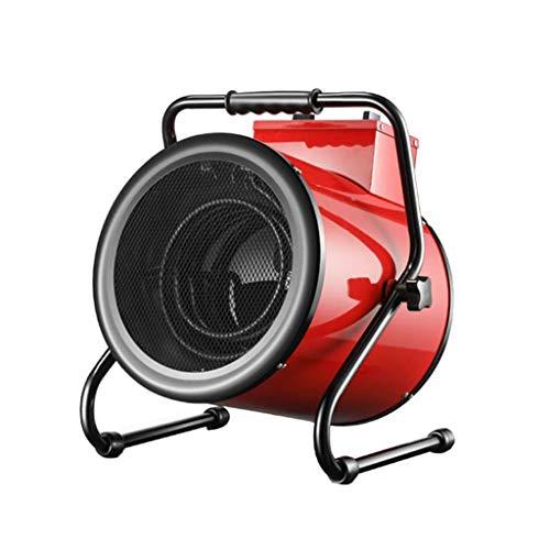 Calentadores Industriales Eléctricos De Alta Potencia De Baja Energía 380V / 5KW / 9000W Inclinación De 45 ° Calentador Eléctrico De Ventilador De Cerámica Ajustable De 3 Velocidades, Protección con