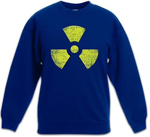 Urban Backwoods Black Radioactive Vintage Symbol Sudadera Suéter para Niños Niñas Pullover Azul Talla 4 Años