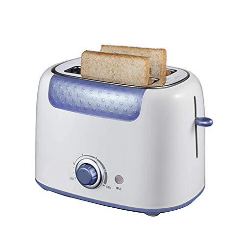 ZHHAOXINTS broodrooster 2 schijven, professionele broodrooster met 6 broodroosters, automatische broodrooster, uitneembaar, elegant, blauw