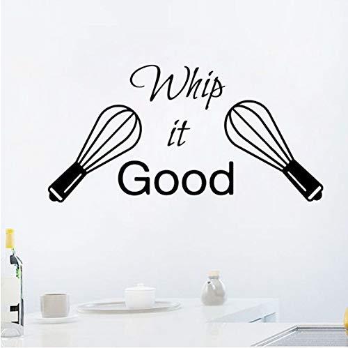 hwhz 84 X 42 cm Kitchen Vinyl Decal Kitchen Decor Sticker Quote Whip It Good Wall Decal Kitchen Dining Room Decor Vinyl Wall Decals