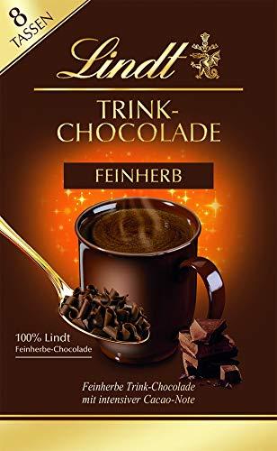 Lindt Trinkschokolade Feinherb, zarte Flocken aus Feinherb-Chocolade zum Einrühren in Milch oder Wasser, 8 Tassen, 120g