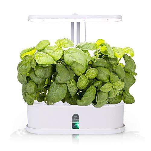 ZDYLM-Y Kit de jardín de Hierbas para Interiores para 10 Plantas con Maceta hidropónica de Cultivo Ligero, diseño de Puerto de inyección de Agua