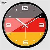 時計、クリエイティブパーソナリティワールドカップ米国-韓国-ドイツの国旗ファッションミュートウォールクロッククォーツ時計の法的開発