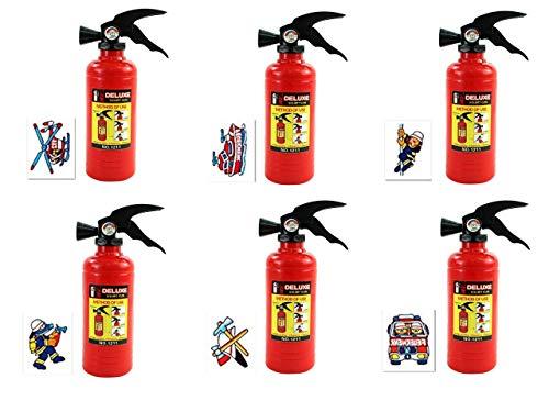 KSS Neu Großes Wasserpistolen Wasserspritzen Set Feuerwehr + Tattoos 12 Teilig Kindergeburtstag usw...