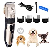Dog Clippers Professional Dog Grooming Kit - USB Dog Shaver Clippers Low Noise Rechargeable Cordless Electric Hair Clippers Set for Dogs Cats Pets,LED Display,Dog Hair Trimmer(Upgrade Version)