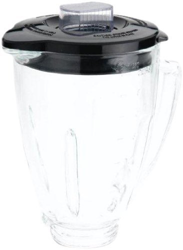 Oster BLSTAJ-CB Blender 6-Cup Glass Jar - Black Lid (Renewed)