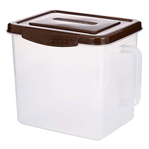 Box Aufbewahrungsbox FüR KüChe VorratsbehäLter FüR Lebensmittel Kunststoffplombe - Stapelbar - KüHlschrank FüR Den HaushaltküHlschrank Geeignet FüR Obst- GemüSe- Und Vollkornlagerung 30 X 21 X 24,5