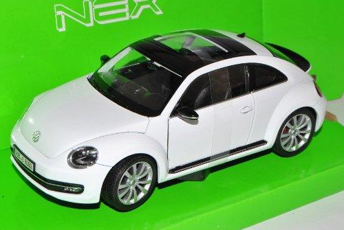 Welly Volkwagen Beetle New Coupe Ab 2011 Weiss 1/24 Modell Auto mit individiuellem Wunschkennzeichen
