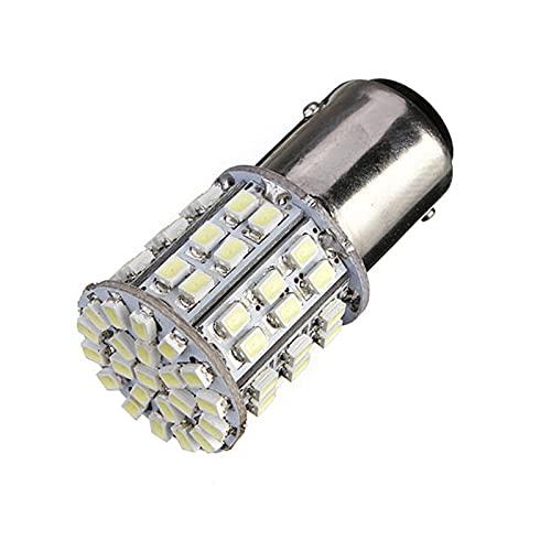 GZA BAY15D 1157 Lámpara De Luz De Freno De Tope De Cola De Coche Blanco 64 SMD Bombilla LED