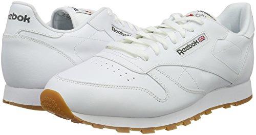 Reebok Classic Lthr 2214, Zapatillas de Trail Running Hombre, Blanco INT White Lt Grey, 44 EU