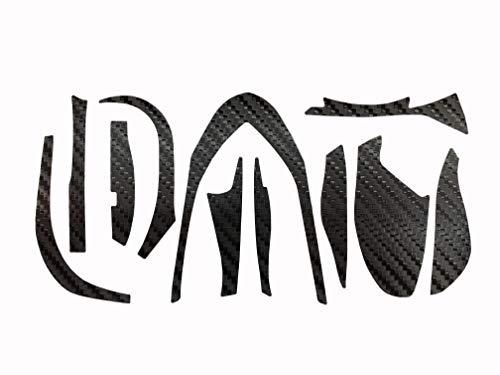15アルデバラン用 カーボン調 カスタムデカール (ブラック(左ハンドル用))