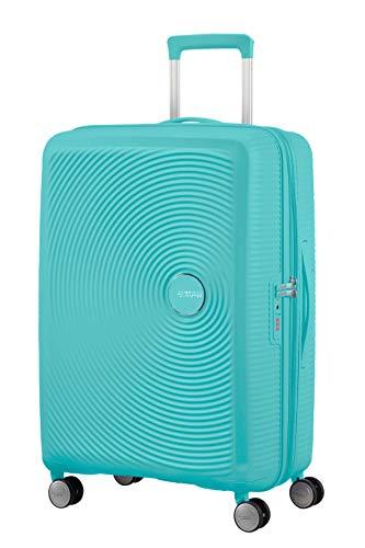 American Tourister Soundbox - Spinner M Expandible Maleta, 67 cm, 71.5/81 L, Azul (Poolside Blue)