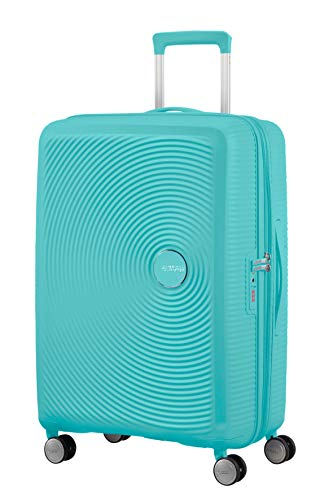 American Tourister Soundbox - Spinner M Expandible Maleta, 67 cm, 71.5/81 L, Azul (Poolside Blue)