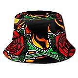 GGdjst Sombreros de Cubo, Can You Stand The Heat Fisherman Beanie Black Graphic One Size Sombrero De Sol Gorra Plana para Mujeres De Hombres