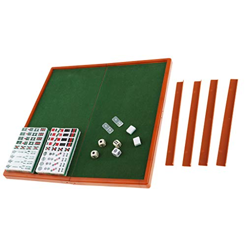 P Prettyia Mahjong Set Brettspiel Mahjong Spiel