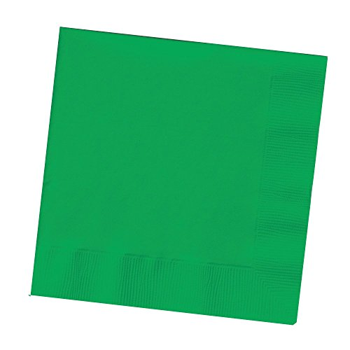 Creative Converting Touch of Color 2-Ply 50 Count Paper Lunch Napkins, Emerald Green