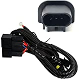 iJDMTOY Xenon Headlight Kit Dual-Relay Wiring Harness Compatible With H13 9008 Hi/Lo Up To 4 Lamps