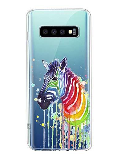 Oihxse Cristal Clear Coque pour Samsung Galaxy S7 Edge/G9350 Silicone TPU Souple Protection Etui [Jolie Aquarelle Animal Design] Anti-Choc Anti-Scratch Bumper Housse Ultra Fin Case (B1)