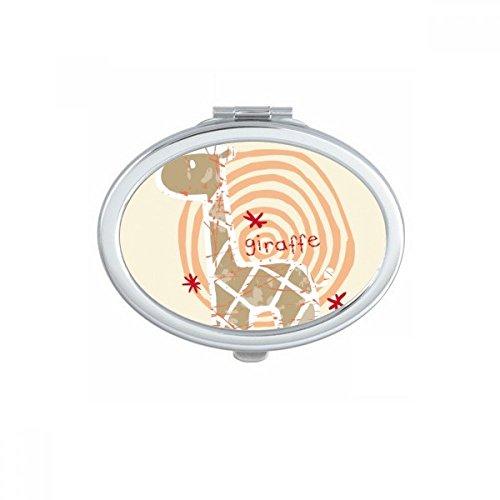 DIYthinker Lunettes Tigre Beau Ovale Animal Maquillage Compact Miroir de Poche Miroirs Mignon Petit Cadeau Portable à la Main Multicolor
