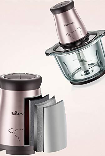 ZTBXQ Möbeldesign Fleischwolf Haushalt Elektrischer Edelstahlknödel Füllung Gemüse Automatische kleine Fleischmischung Knoblauch Kochmaschine
