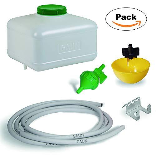 FINCA CASAREJO Kit Bebedero automático para Aves con depósito de 10 litros.