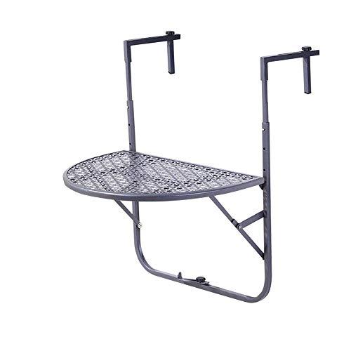 LXDDP Best Choice Products - Mesa Plegable portátil para Colgar en el balcón, Plegable, Soporte Lateral para Patio, terraza - Negro