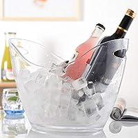 レッドワインシャンパンアイスバーホームビッグアイスバケツ、アクリル透明3Lヨーロッパスタイルのクリエイティブポータブルアイスバケット、 氷のバケツ