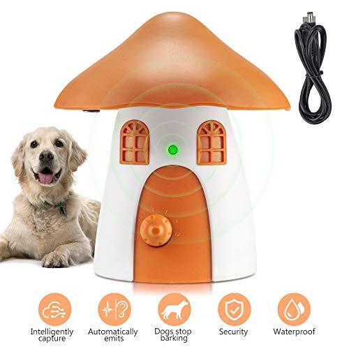 Antibellhalsband, Ultraschall Anti-Bell Gerät Hundebellen Abschreckung, Automatische Rinden Stoppvorrichtung Erziehungshalsband für Hunde Bellen Training im 50 Fuß Bereich