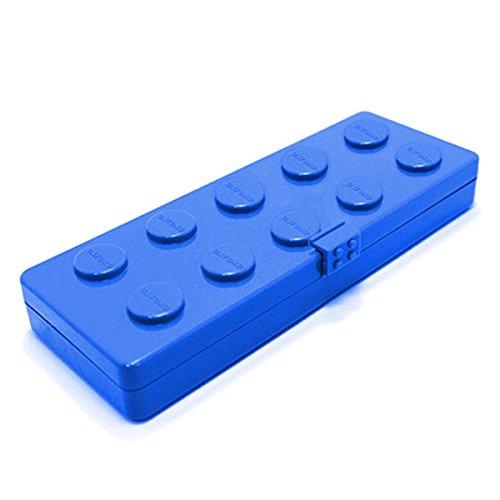 ブロックフィギュアおしゃれOxford(オックスフォード)トレーニングお箸スプーンフォークケースセット右利き子供キッズ用キャラクター(blueブルー)