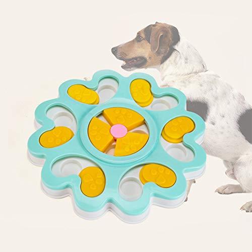 Cuenco de plástico para mascotas, divertido, juguete para perro, cuenco de alimentación, respetuoso con el medio ambiente, dispensador de comida para cachorros y gatos, azul