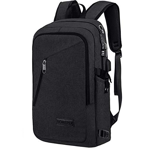 College Backpack For Men,Laptop Backpack with USB Charging Port Headphone Interface, Anti-Theft...