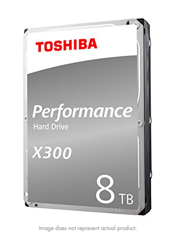 Toshiba X300 8TB Performance Desktop and Gaming Hard Drive 7200 RPM 128MB Cache SATA 6.0Gb/s 3.5 Inch Internal Hard Drive (HDWF180XZSTA)