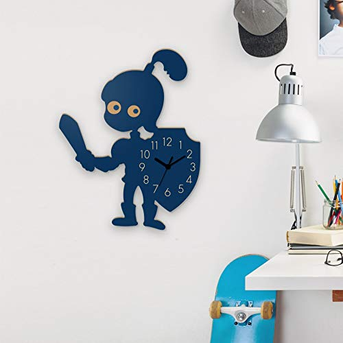 Yourlivingart - Reloj de pared infantil, diseño de pequeño caballero, color azul