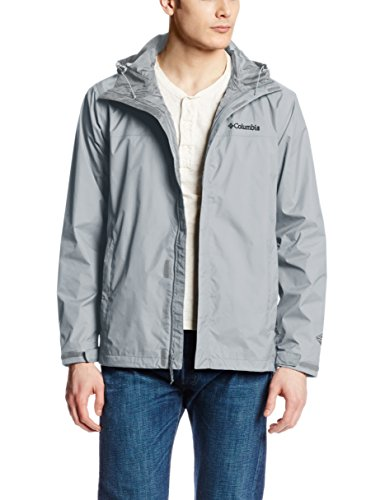 Mens Waterproof Breathable Grey Rain Jacket