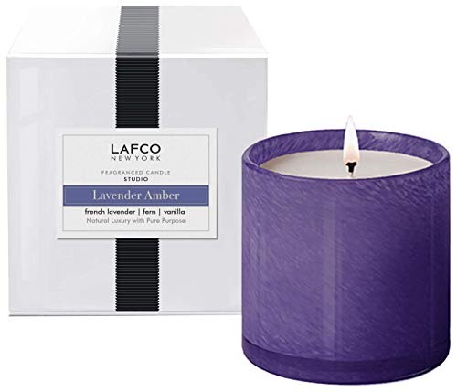 LAFCO Lavender Amber Signature Candle, Studio