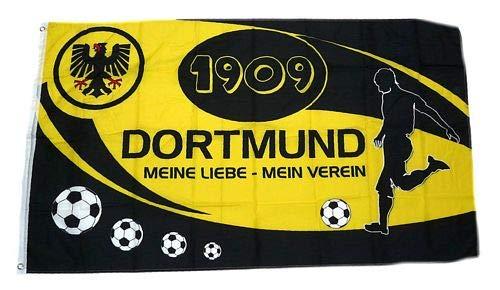Fahne Flagge Dortmund Meine Liebe Mein Verein 90 x 150 cm