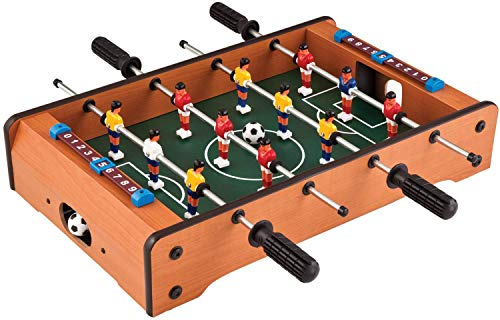 eErlik Mid-Sized Foosball, Mini Football, Table Soccer Game, 4 Rods, 20 Inches
