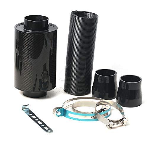 Filtro de aire coche, Universal Car 3 pulgadas de fibra de carbono Filtro de aire frío Alimentación de la manguera de la manguera del tubo de la admisión de la admisión de la ingugición Filtre Filtre