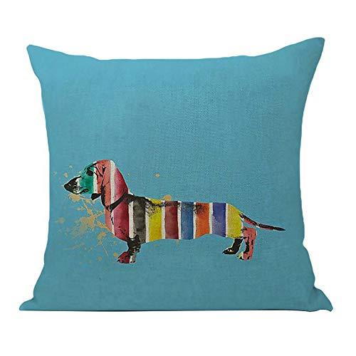 Amesii - Funda de almohada para perro salchicha (lino, para la cintura, para el hogar, el sofá, para el hogar, el coche, 7