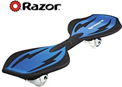 Shorter than the original rip-stick High tech polymer with removable deck plates Slip-resistant concave deck platforms and high-grade urethane wheels Rubber padded steel torsion bar Safety Equipment such as a helmet is recommended